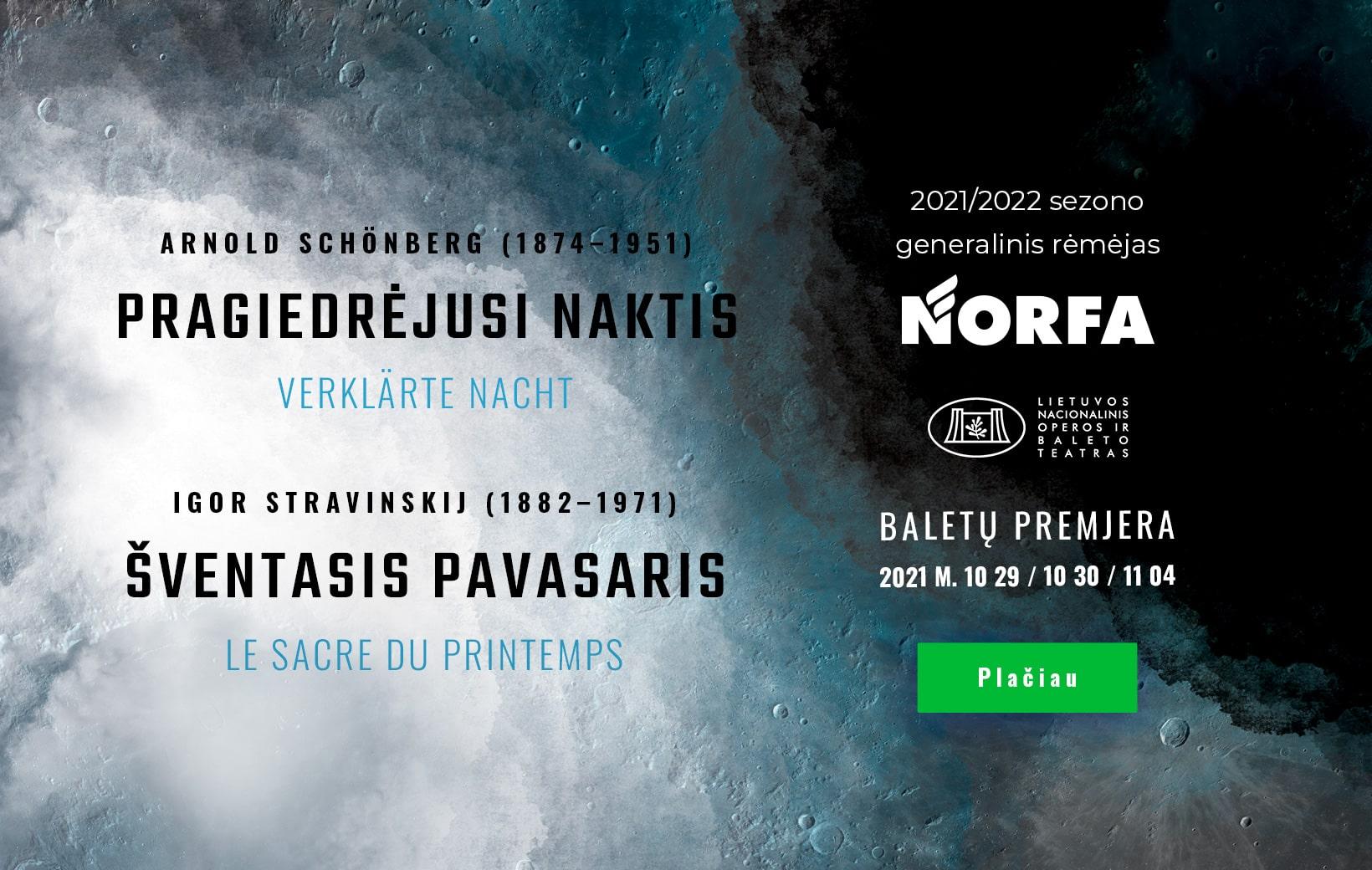 NORFA - Operos ir Baleto teatro 21/22 sezono generalinis rėmėjas