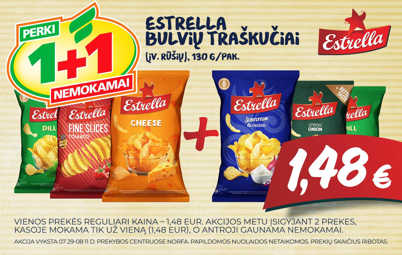 Bulvių traškučių ESTRELLA akcija