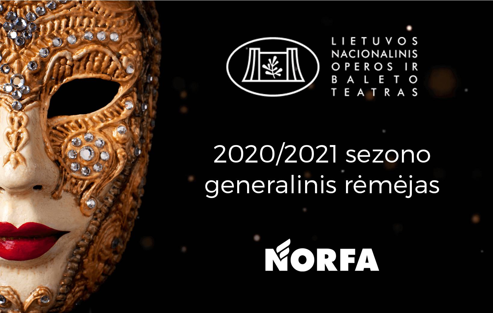 NORFA - Operos ir Baleto teatro 20/21 sezono generalinis rėmėjas