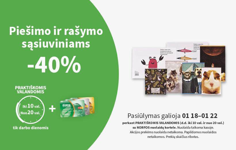 Nuolaida PRAKTIŠKOMIS VALANDOMIS 01 18-01 22 d.