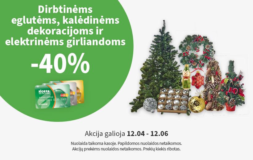 Savaitgalio nuolaida dirbinėms eglutėms ir kalėdinėms dekoracijoms