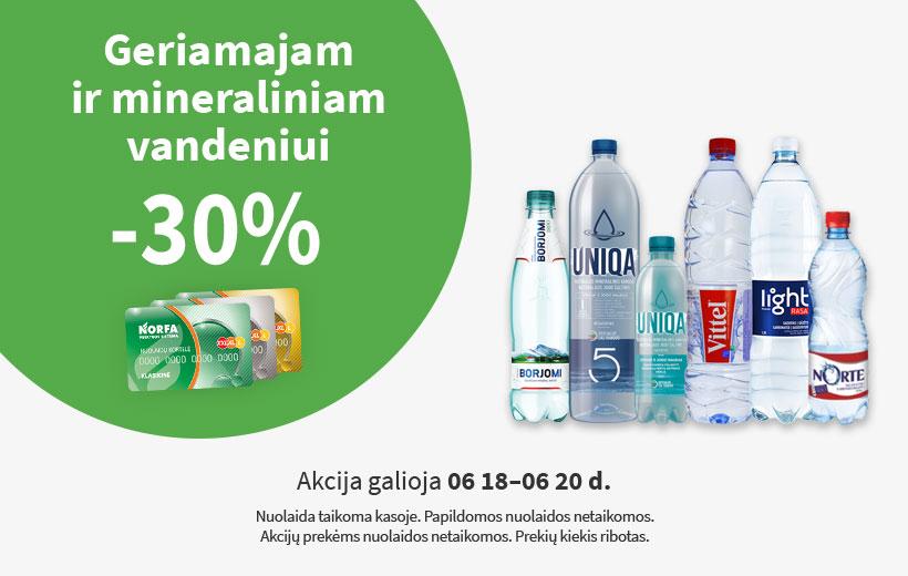 Savaitgalio nuolaida geriamajam ir mineraliniam vandeniui 06 18-06 20 d.