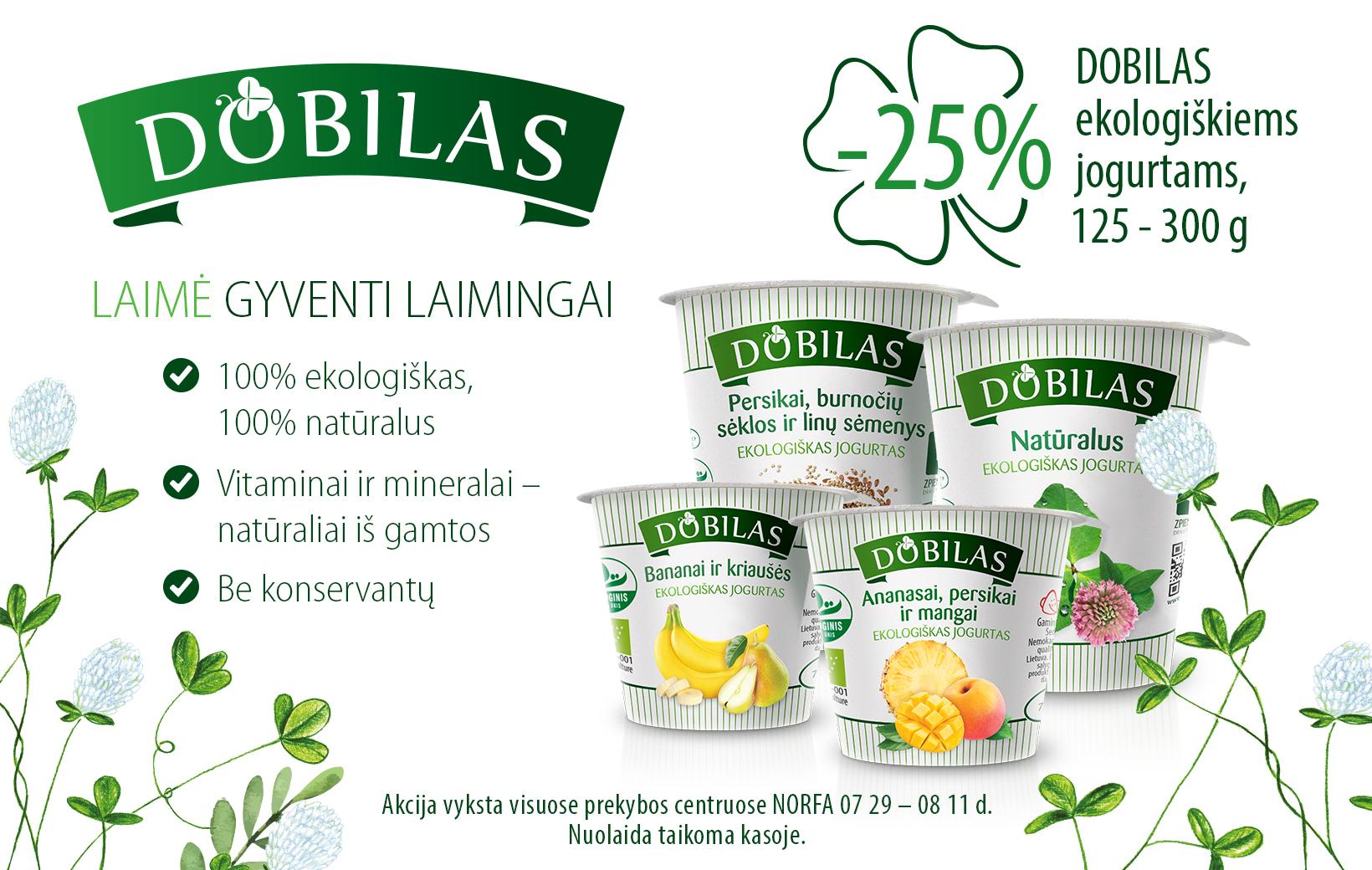 DOBILAS jogurtų akcija
