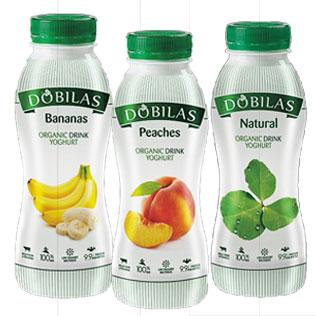 Ekologiškas geriamasis jogurtas DOBILAS (3 rūšių), 330 g