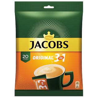 Tirpusis kavos gėrimas JACOBS ORIGINAL 3in1 BOX, 20 x 15,2 g