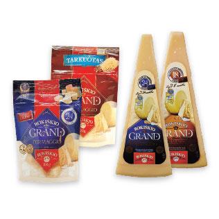 Kietajam sūriui ROKIŠKIO GRAND (4 rūšių), 80 g, 100 g, 180 g