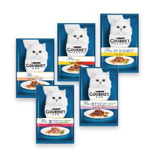 Konservuotas kačių ėdalas GOURMET PERLE (5 rūšių), 85 g