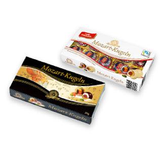 Saldainiai su marcipanų įdaru MOZART-KUGELN (2 rūšių), 200 g