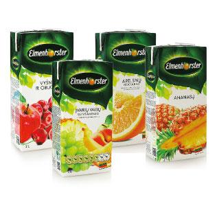 Sulčių gėrimams ir nektarams ELMENHORSTER (4 rūšių), 2 l