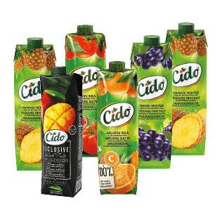 Sultims, nektarams ir sulčių gėrimams CIDO (įv. rūšių), 1 l