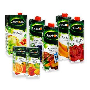 Sultims, nektarams ir sulčių gėr. ELMENHORSTER (įv. rūšių), 200 ml–2 l