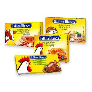 Sultinys GALLINA BLANCA (4 rūšių), 80 g/ pak.