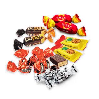 Sveriamiems saldainiams PERGALĖ (įv. rūšių)