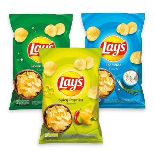 Bulvių traškučiai LAY´S (3 rūšių), 180 g