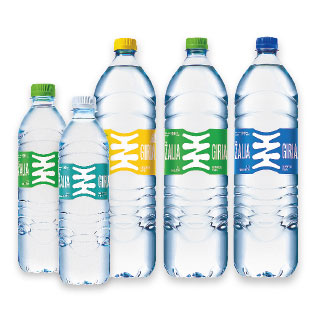 Šaltinio ir geriamajam vandeniui ŽALIA GIRIA (įv. rūšių), 0,5 l, 0,75 l, 1,5 l