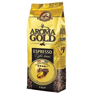 Kavos pupelės AROMA GOLD ESPRESSO, 1 kg