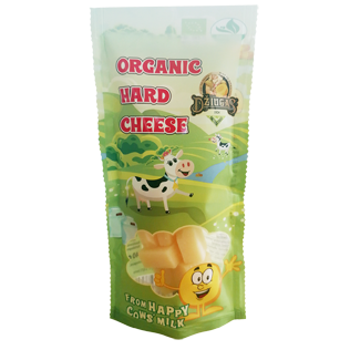 Ekologiškas kietas sūris DŽIUGAS 40% rieb.s.m., 40 g
