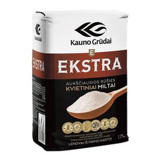 KAUNO GRŪDŲ kvietiniai miltai 405D EKSTRA, 1,75 kg