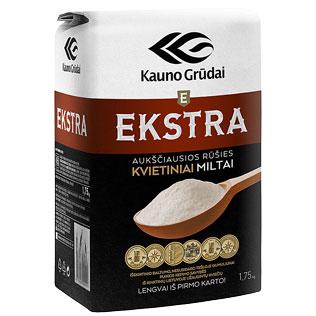 KAUNO GRŪDŲ kvietiniai miltai EKSTRA 405 D, 1,75 kg