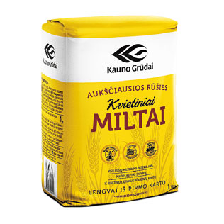 KAUNO GRŪDŲ kvietiniai  miltai 550D, a. r., 1 kg