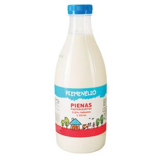PIEMENĖLIO pienas, 3,5% rieb., 1 l, butelis