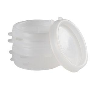 Plastikiniai stiklainių dangteliai, art. 6017, 10 vnt./pak.