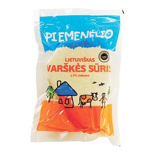 PIEMENĖLIO LIETUVIŠKAS varškės sūris, 13% rieb., 1 kg